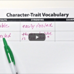 Clarify Character Traits verse Feelings