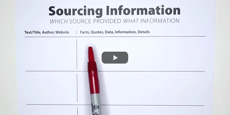 Organize Information Collected from Sources