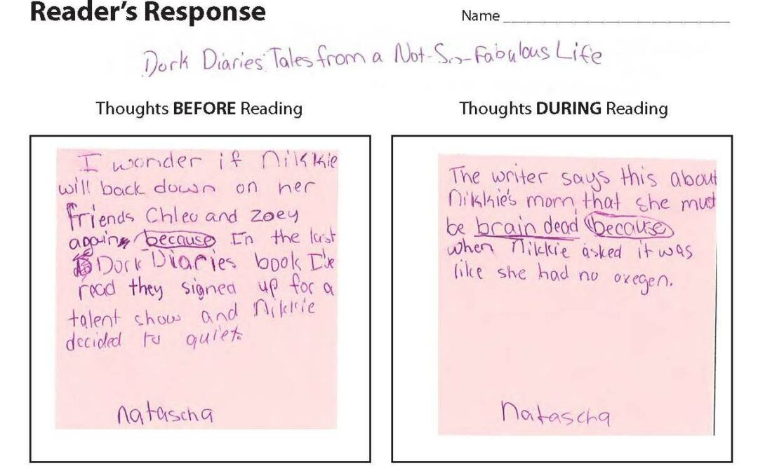Easily Assess Reader Thinking with this Simple Handout