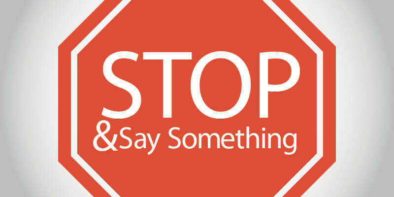 Stop and Say Something Strategy