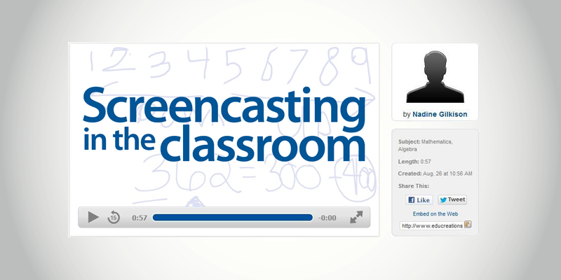 Create Screencasts Versus Print Screens