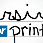 Write in Cursive or Print