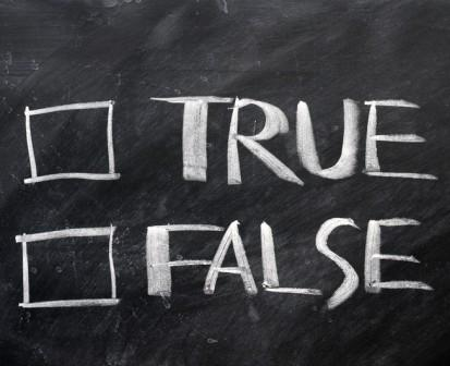 Require Evidence in True/False Questions