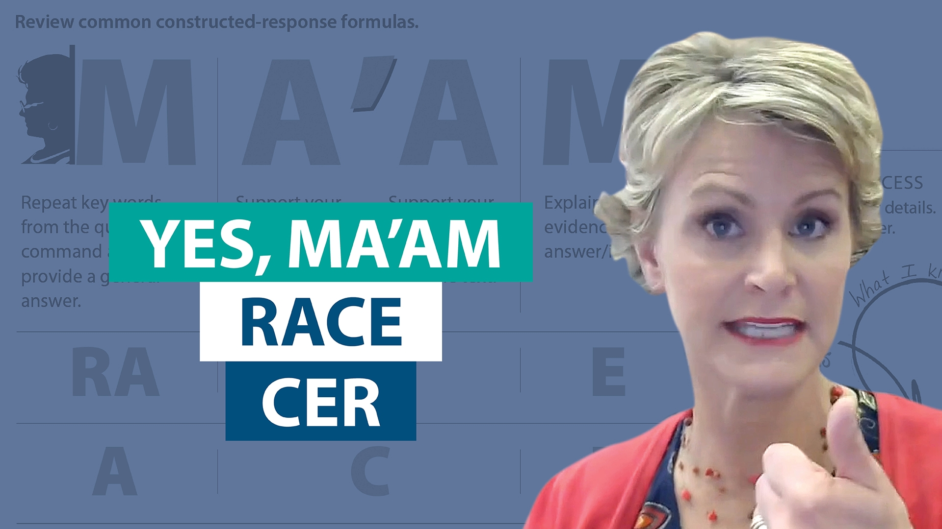 How does Yes, MA'AM fit with RACE and CER?