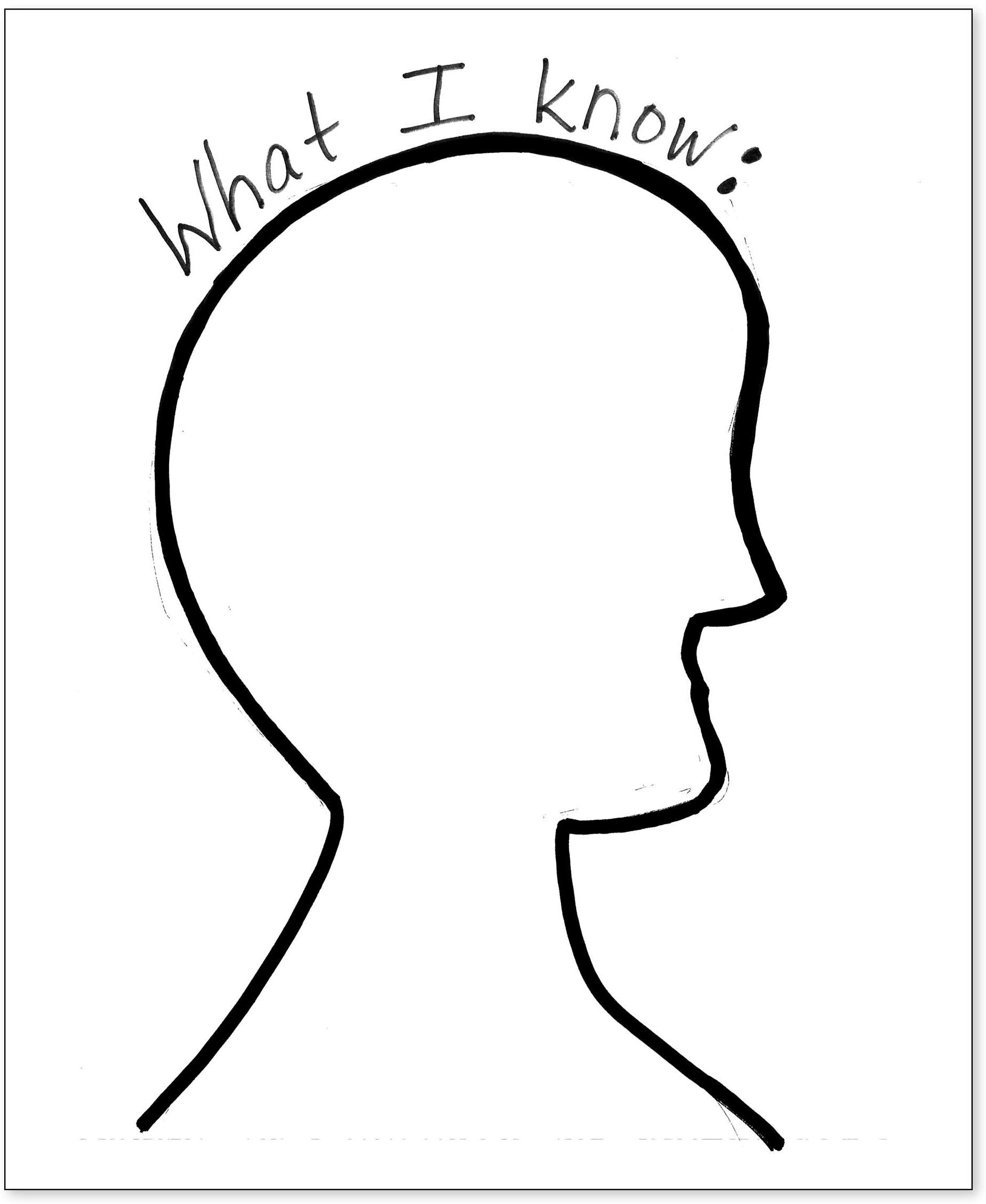 Main-Idea Silhouette Head