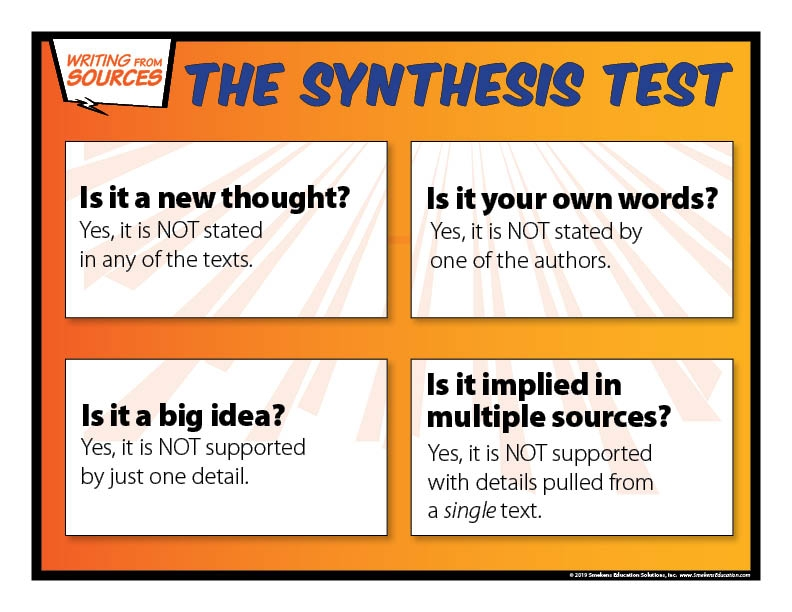 Clarify Summary v Synthesis - The Synthesis Test