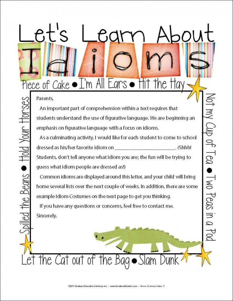 Idiom Costume Ideas Elementary