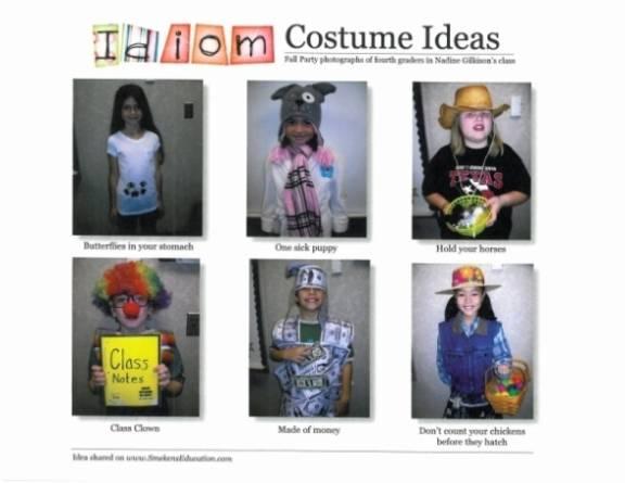 Idiom Costume Ideas