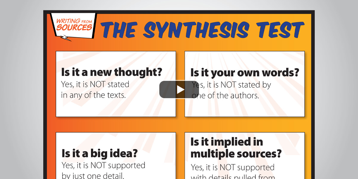 Clarify Summary Versus Synthesis