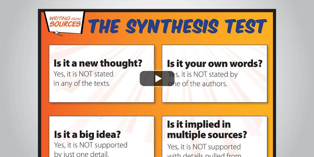 Clarify <em>Summary</em> Versus <em>Synthesis</em>