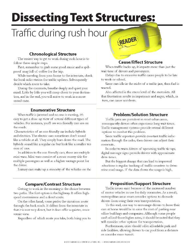 Dissecting Test Structures: Traffic During Rush Hour