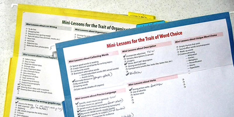 Organize Your Mini-Lessons