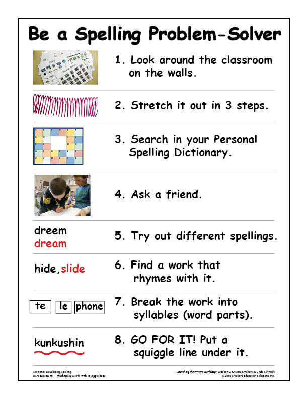 Be a Spelling Problem-Solver GROW the List