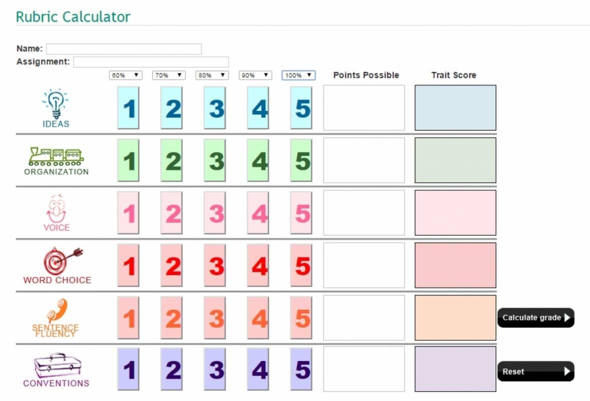 Rubric Calculator