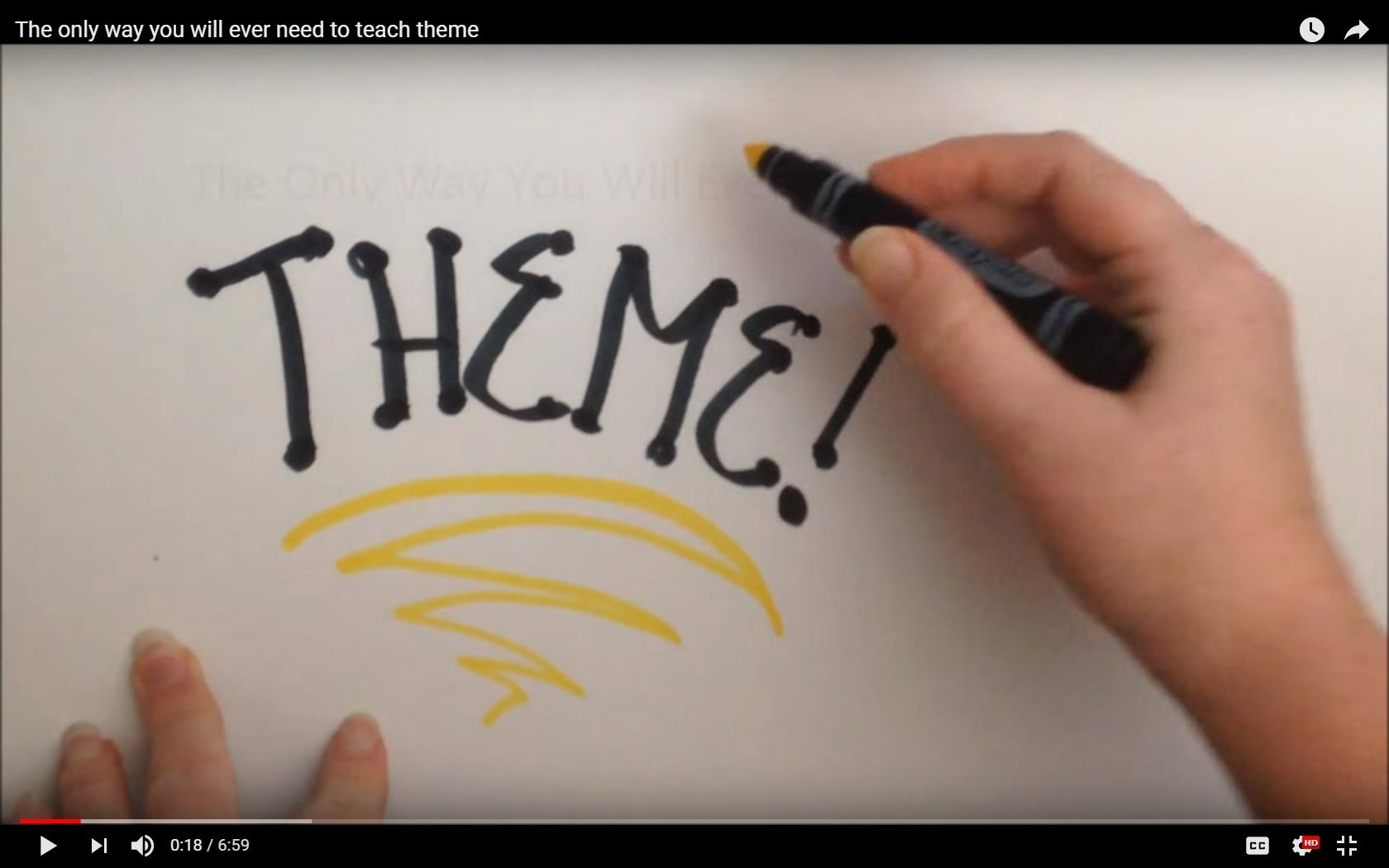 Sara Johnson's YouTube Video about Teaching Theme