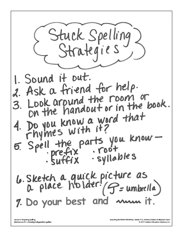 Stuck-Spelling Strategies GROW the List