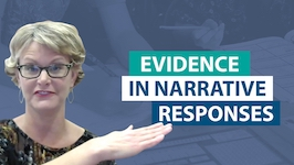 How should students incorporate evidence in a narrative response?