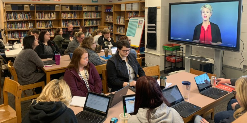 Summitville teachers watching webPD