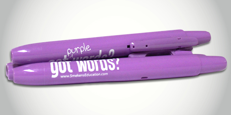 Identify Strong Word Choice with Purple Highlighters