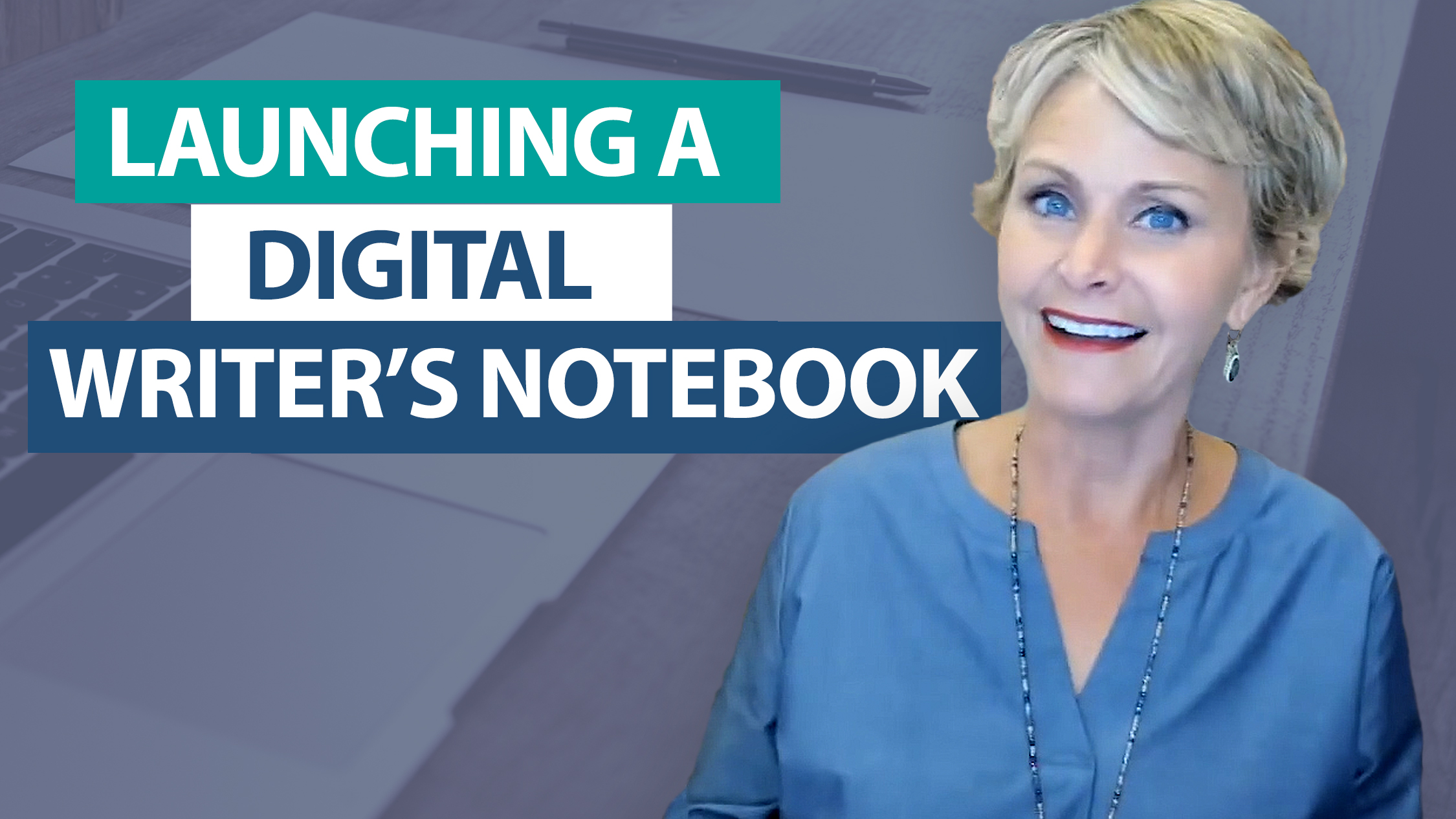 How do I launch a digital writer's notebook?