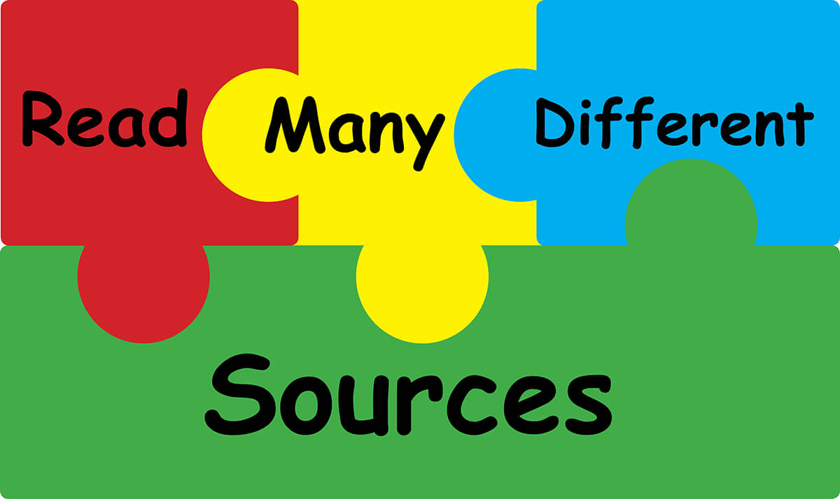 Read Many Different Sources Puzzle Pieces - Downloadable Resource