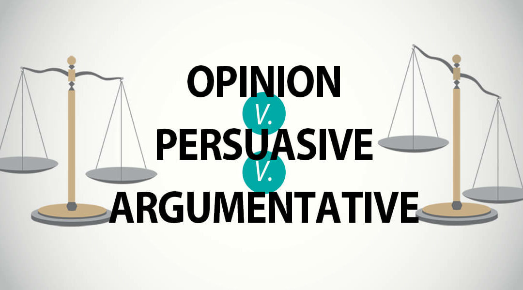 Compare Argumentative v. Persuasive Writing