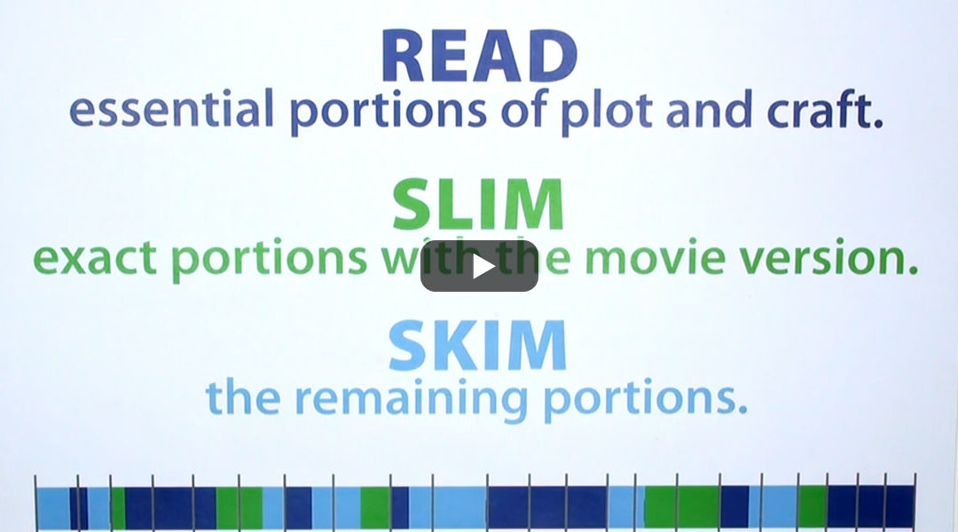 Skim and Slim Portions of a Novel