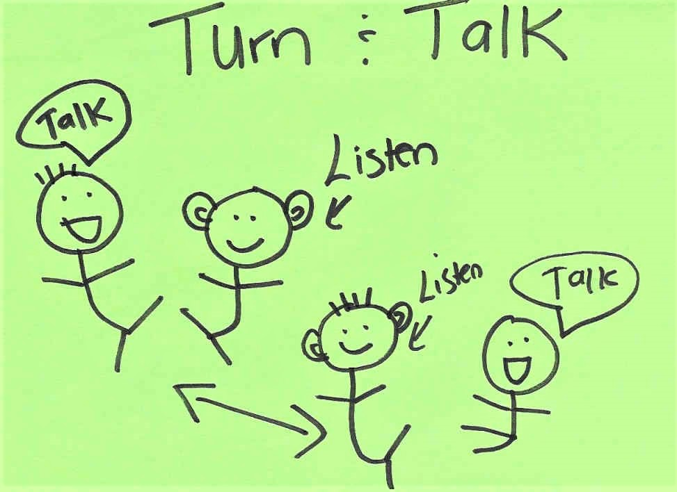Turn & Talk Sticky Note