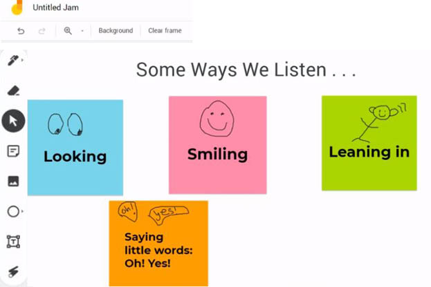 Turn & Talk - Some Ways We Listen - Jamboard