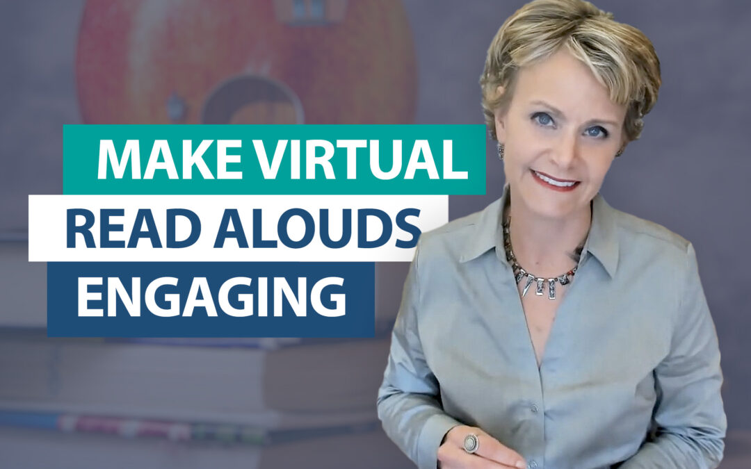 How do you engage students during a virtual read aloud?