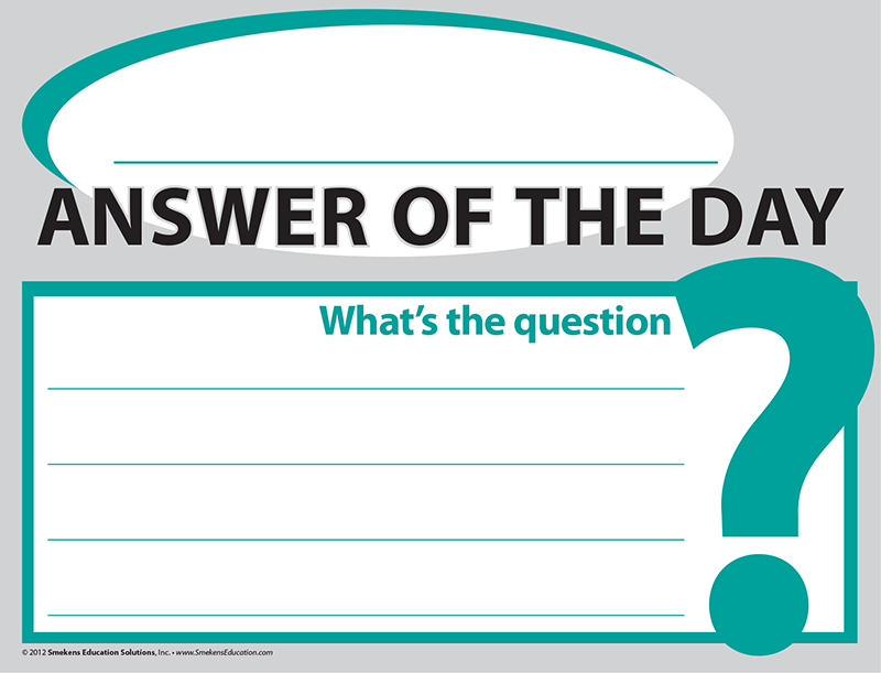 Incorporate Answer of the Day