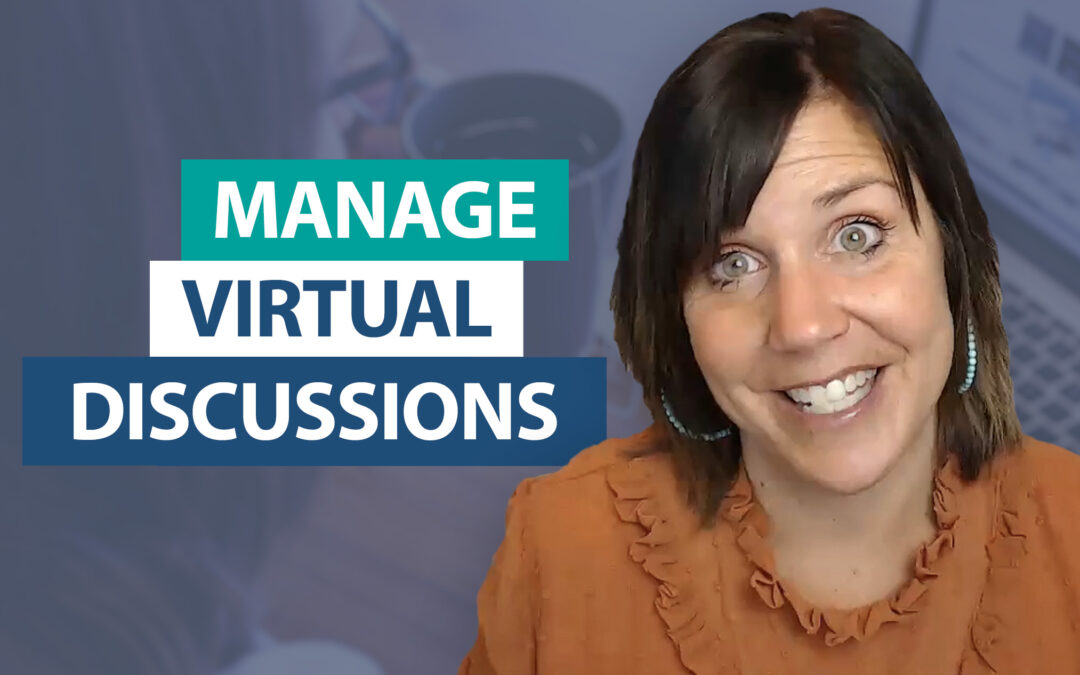 How do I manage whole-class discussions virtually?