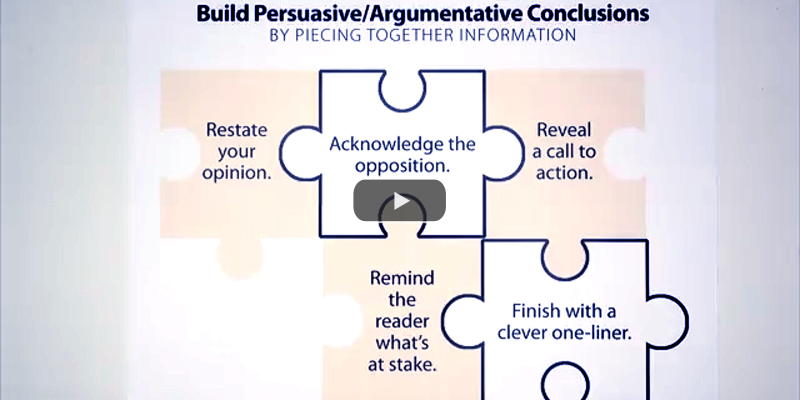 Start and End Persuasive Pieces