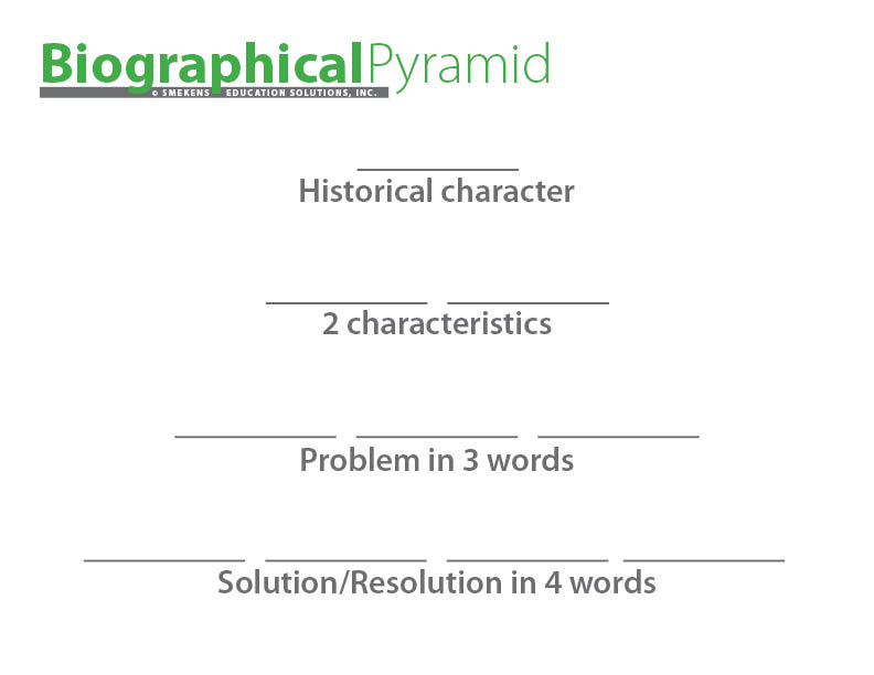 Biographical Information Pyramid Template