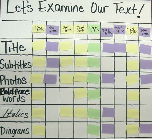 Let's Examine Our Text: Text Feature Scavenger Hunt