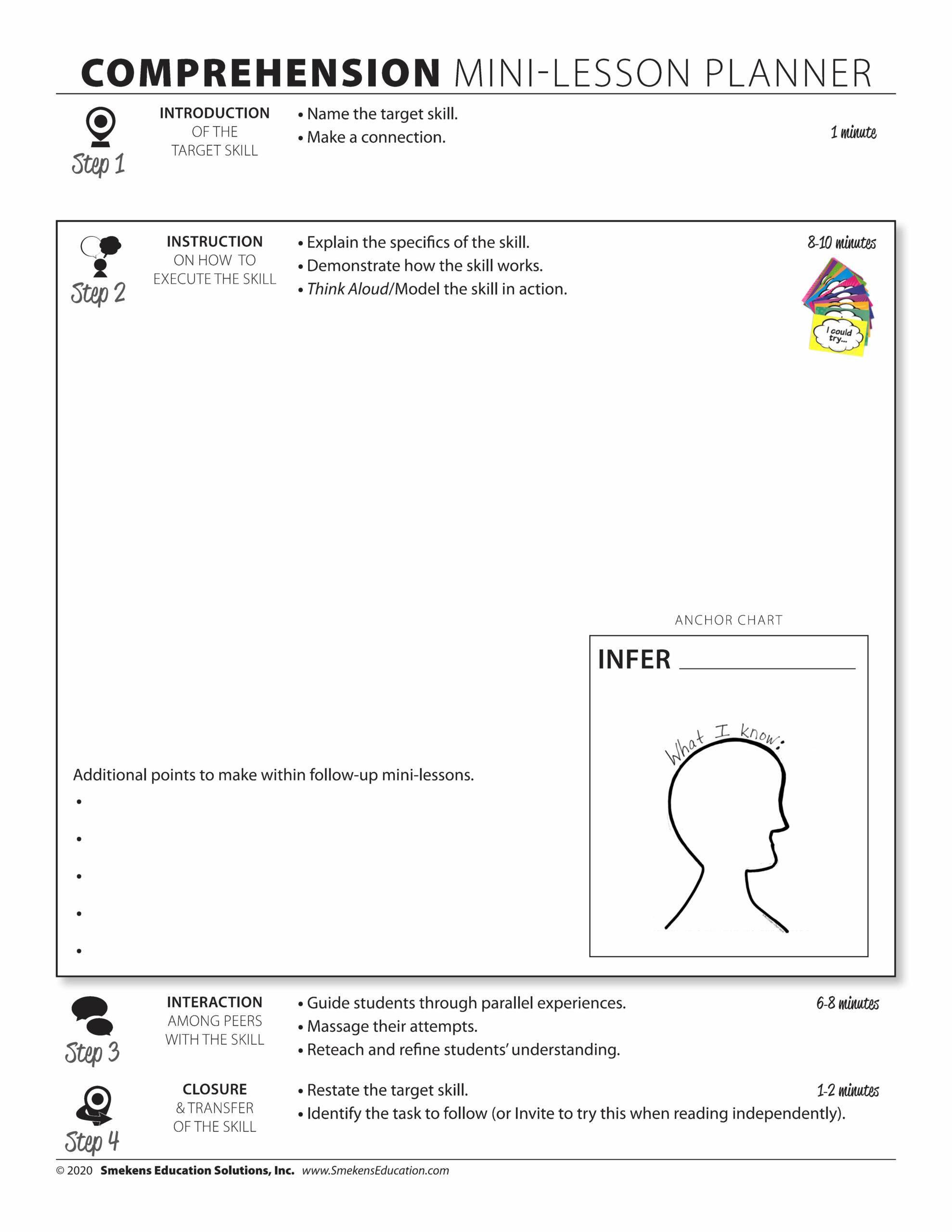 Comprehension Mini-Lesson Planner