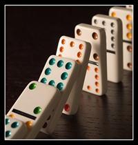 Use dominoes to teach word spacing
