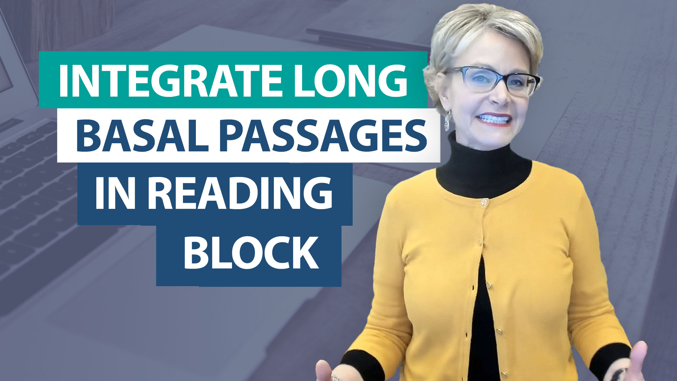 How do you integrate long passages of basal into the reading block
