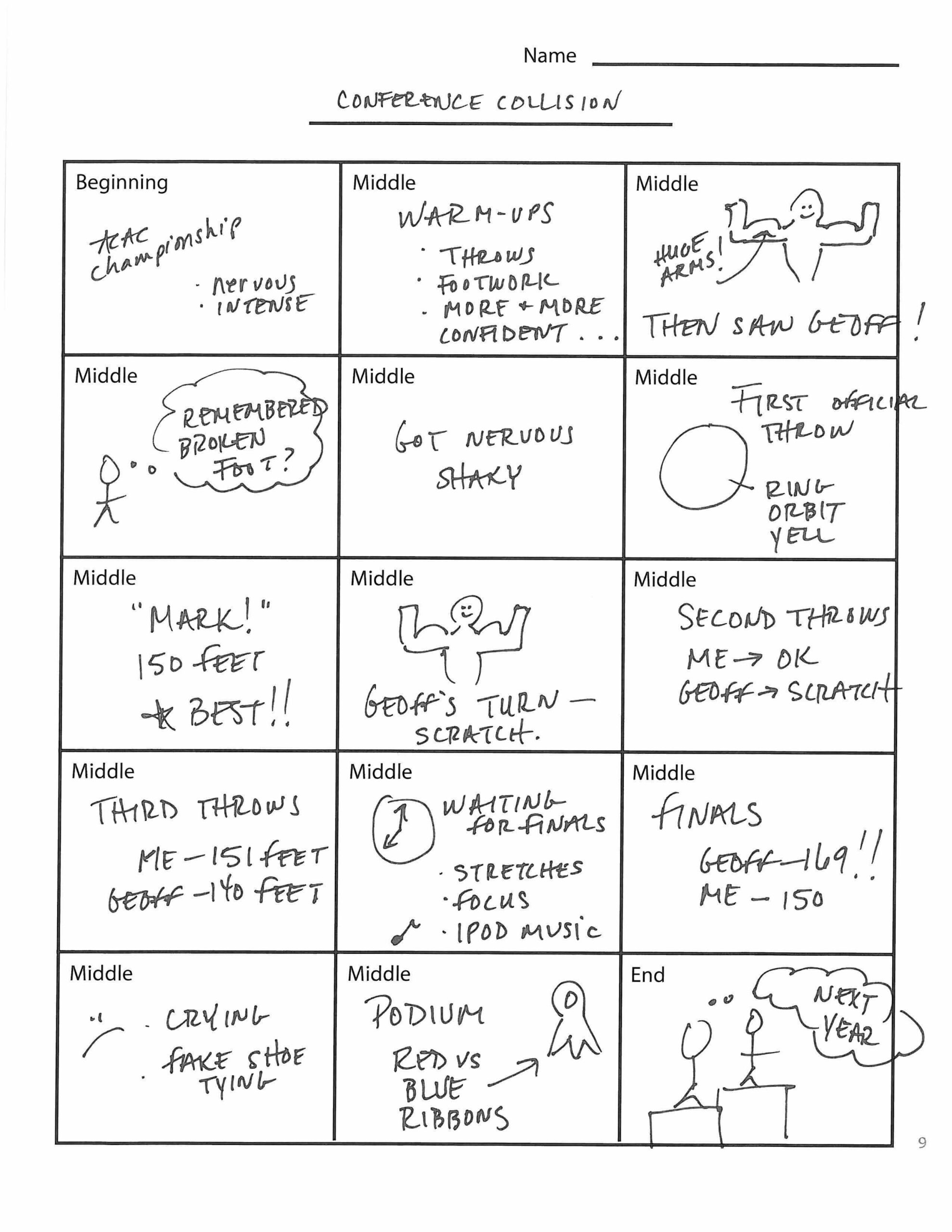 Student Example: Conference Collision Storyboard