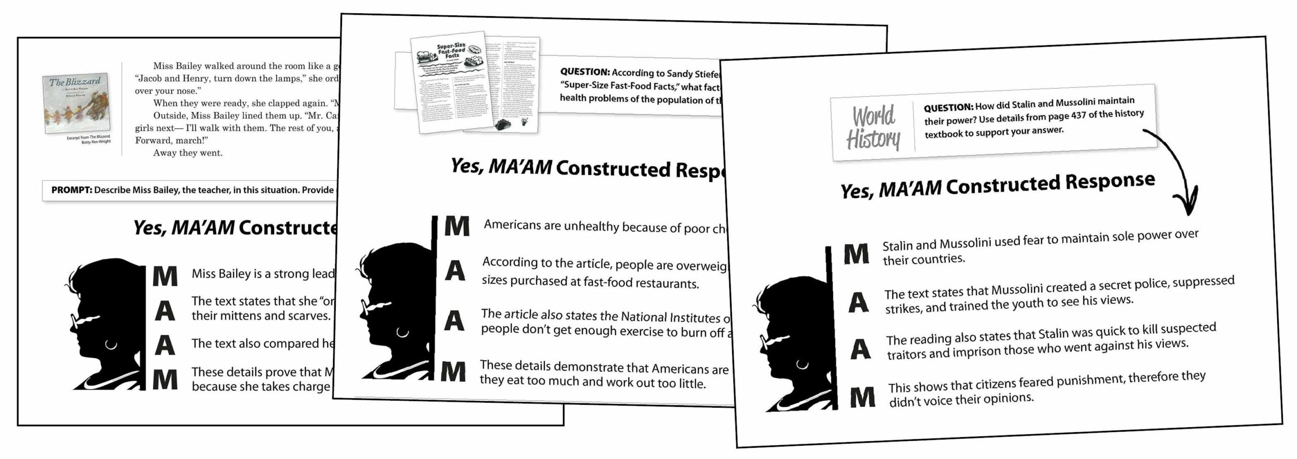 Constructed-Response Explanation Examples