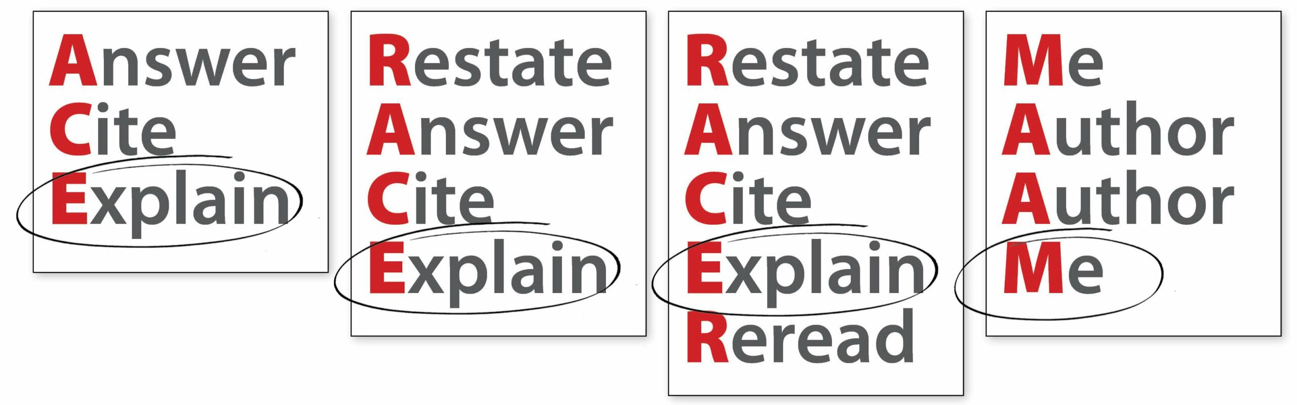 Constructed-Response Endings for ACE, RACE, RACER, & MAAM