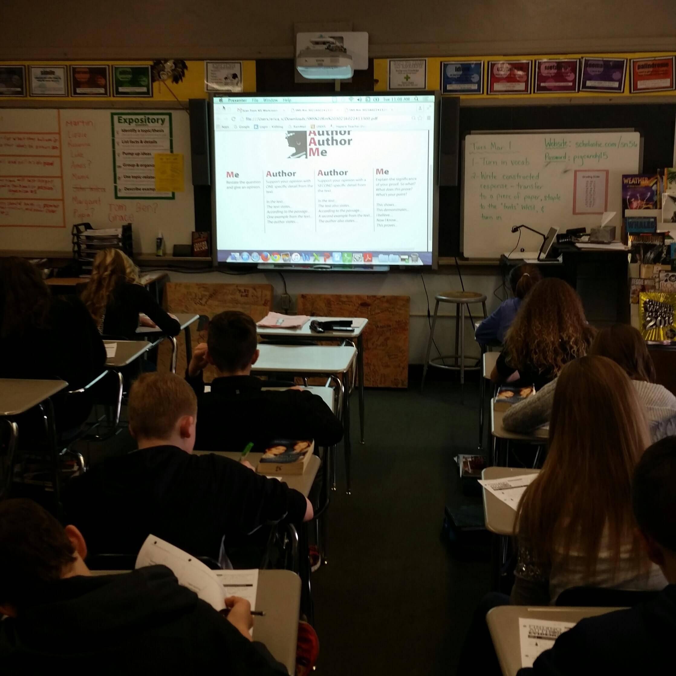 Erica Shadley 8th Classroom: Yes, MA'AM