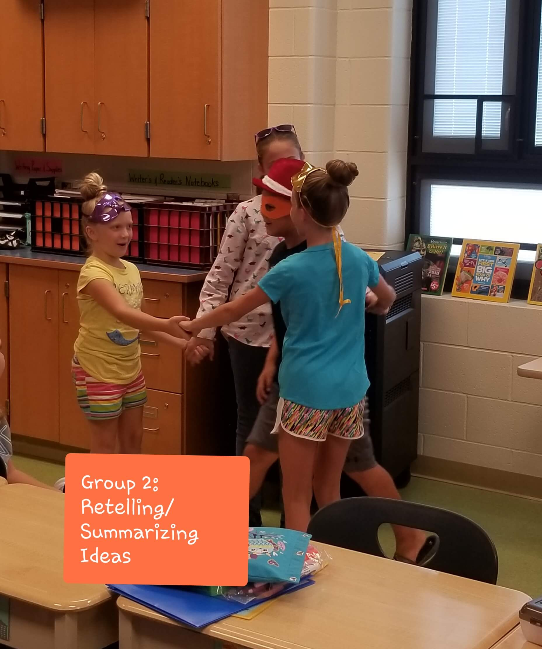 Erica Shadley Classroom: Comprehension Strategy Small Group Retell/Summarize Ideas 2