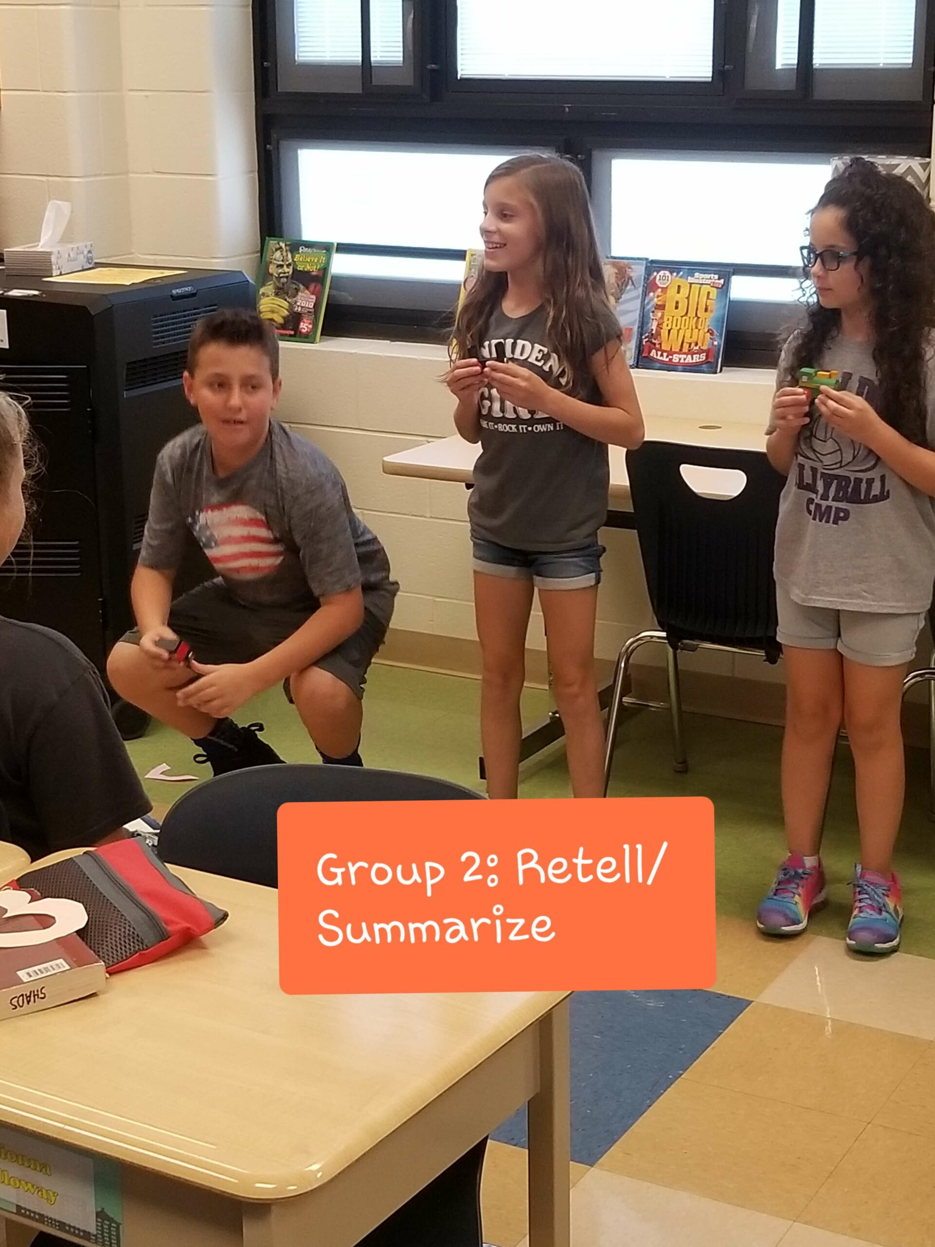 Erica Shadley Classroom: Comprehension Strategy Small Group Retell/Summarize Ideas 1