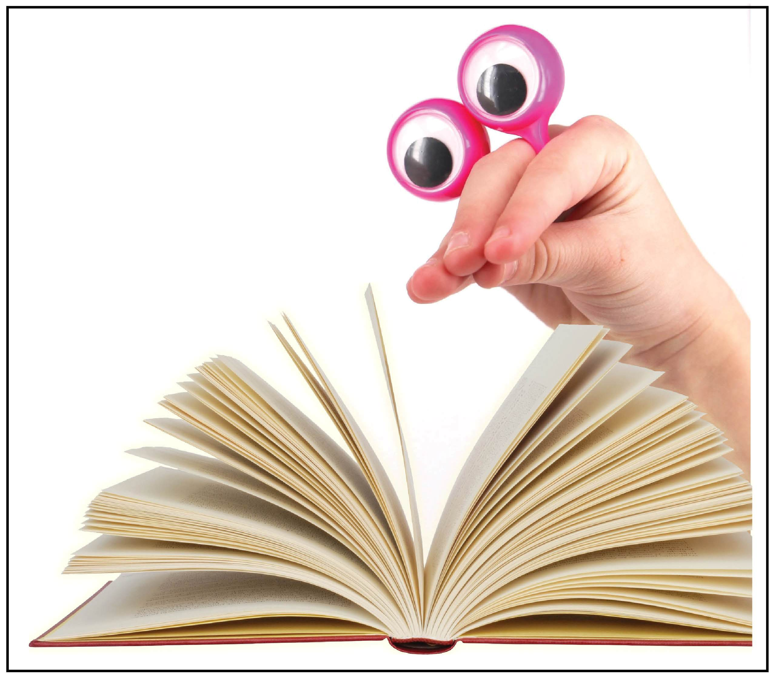 Finger Puppet for putting eyeballs on the text - Peepers' Link