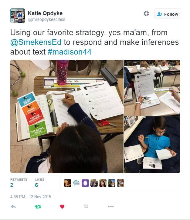Katie Opdyke Classroom: Yes, MA'AM tweet