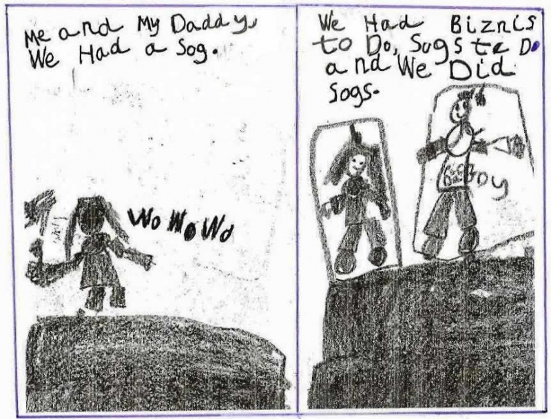 """Anchor Paper: Kindergarten Student Sample - """"Me and My Daddy"""""""