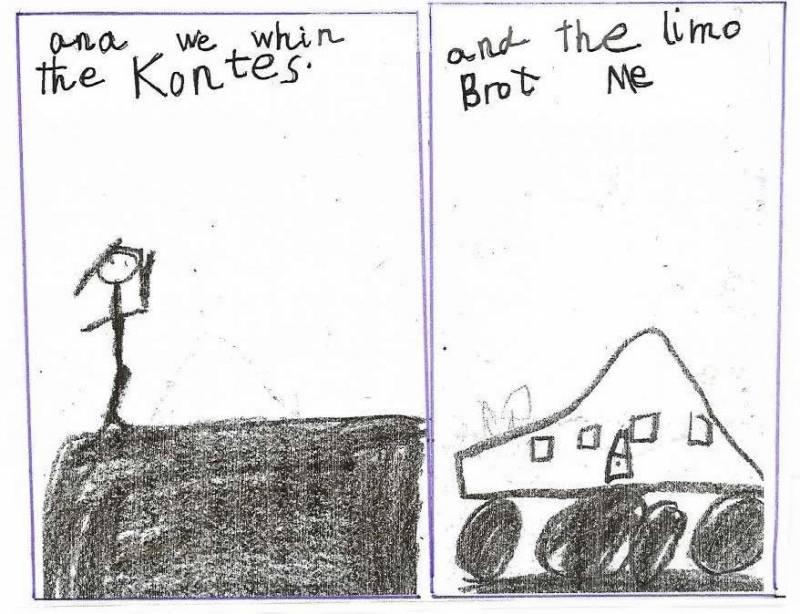 "Anchor Paper: Kindergarten Student Sample - ""Limo"""