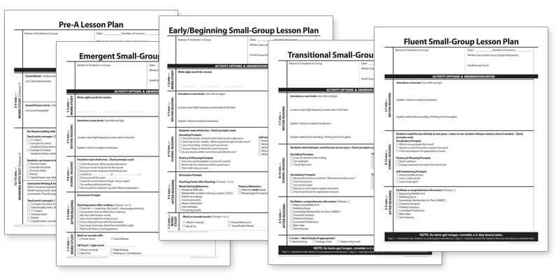 Lessons Plans for Differentiated Small Groups - Downloadable Resource