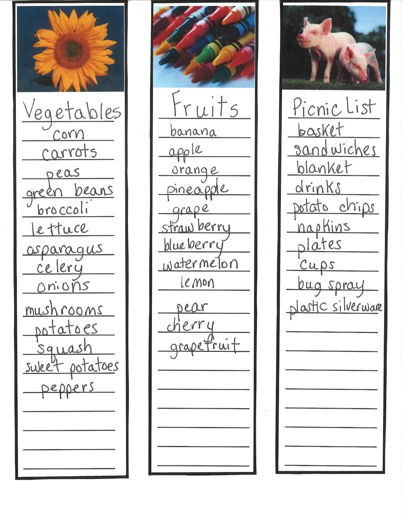 List-Writing Samples